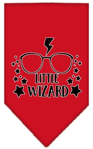 Little Wizard Screen Print Bandana Red Large